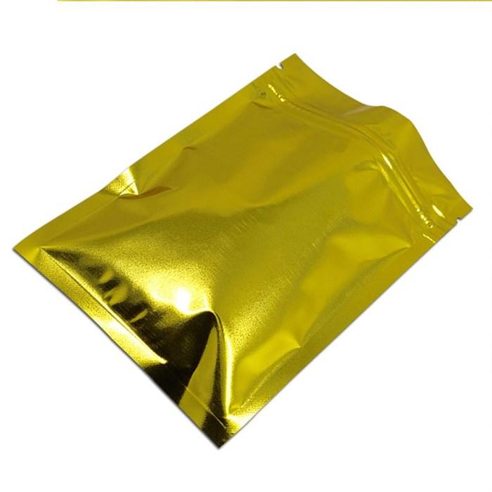 Дой-пакет 105х150 мм золотой металлизированный с zip-lock - фото 4753