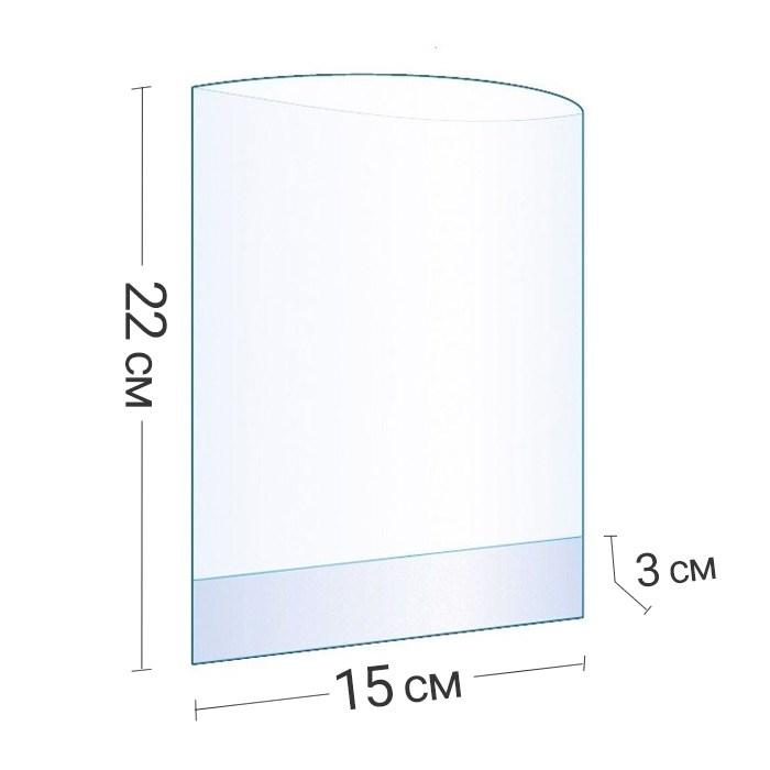 Бопп-пакет прозрачный с объемным дном 15x22x3 см - фото 6230