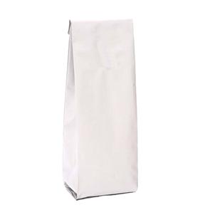 Белый пакет 80*40*250 мм с центральным швом и боковыми фальцами