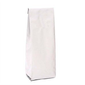 Белый пакет 85*60*270 мм с центральным швом и боковыми фальцами