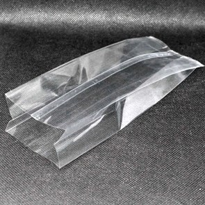 Прозрачный пакет 70*40*200 мм с центральным швом и боковыми фальцами