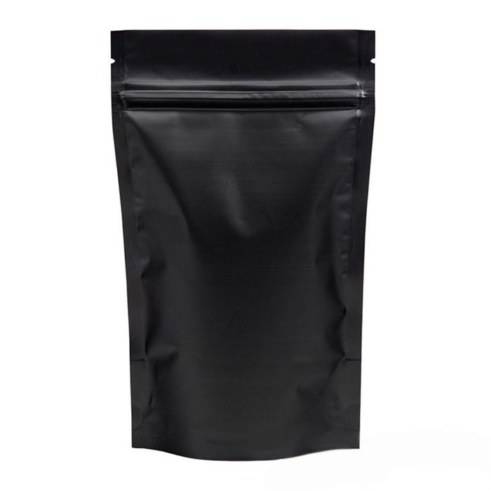 Черный матовый дой-пакет 105х150 мм с замком zip-lock металлизированный - фото 4709