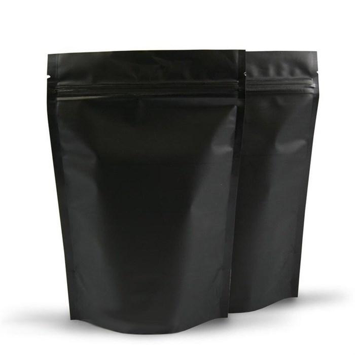Черный матовый дой-пакет 170х300 мм с замком zip-lock металлизированный - фото 4720