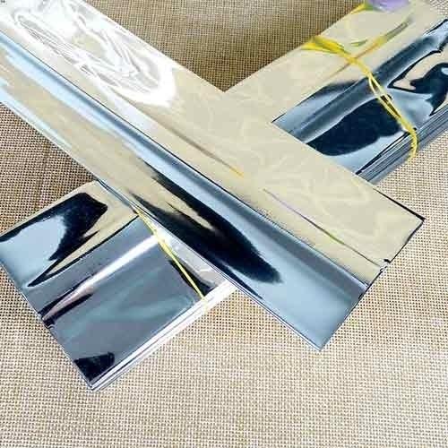 Металлизированный пакет 120*70*300 мм с центральным швом и боковыми фальцами - фото 5295