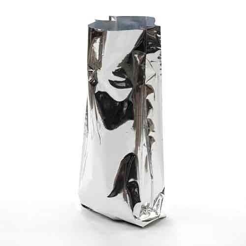 Металлизированный пакет 120*70*350 мм с центральным швом и боковыми фальцами - фото 5301