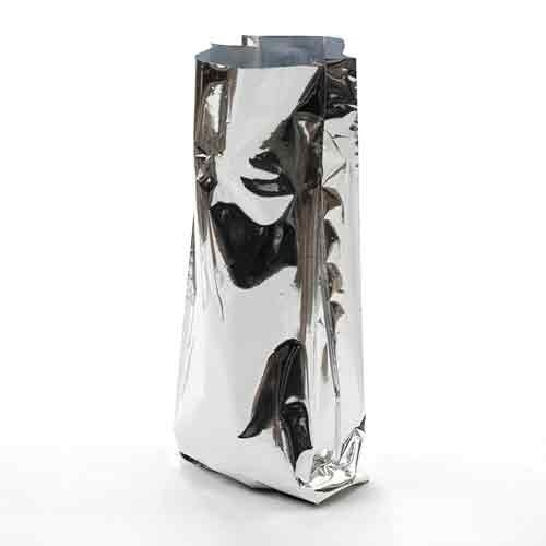 Металлизированный пакет 140*90*300 мм с центральным швом и боковыми фальцами - фото 5306