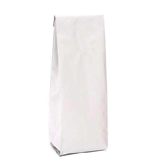 Белый глянцевый пакет 80*40*250 мм с центральным швом и боковыми фальцами - фото 5321