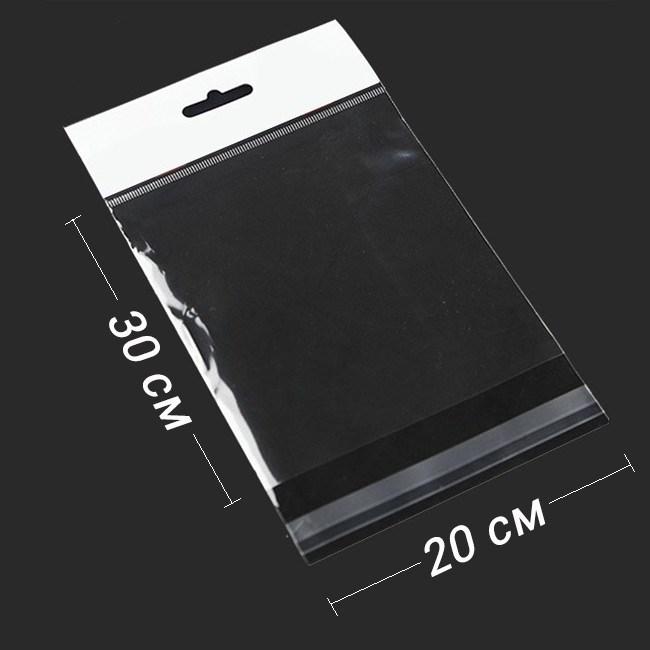 БОПП-пакет 20*30 см с еврослотом и клапаном - фото 5774