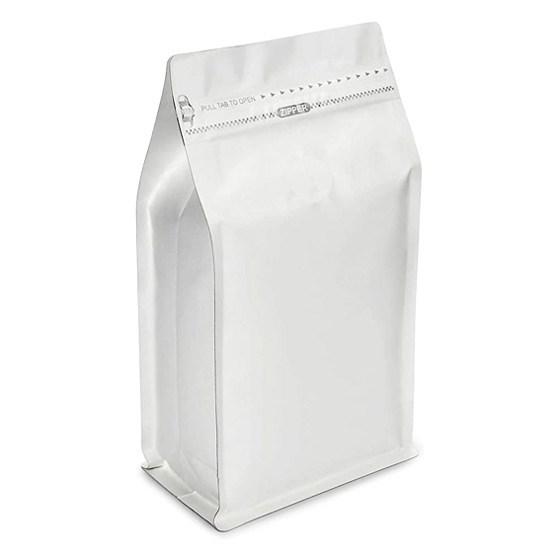 Восьмишовный пакет белый 110+60х190 мм с замком и плоским дном - фото 6199