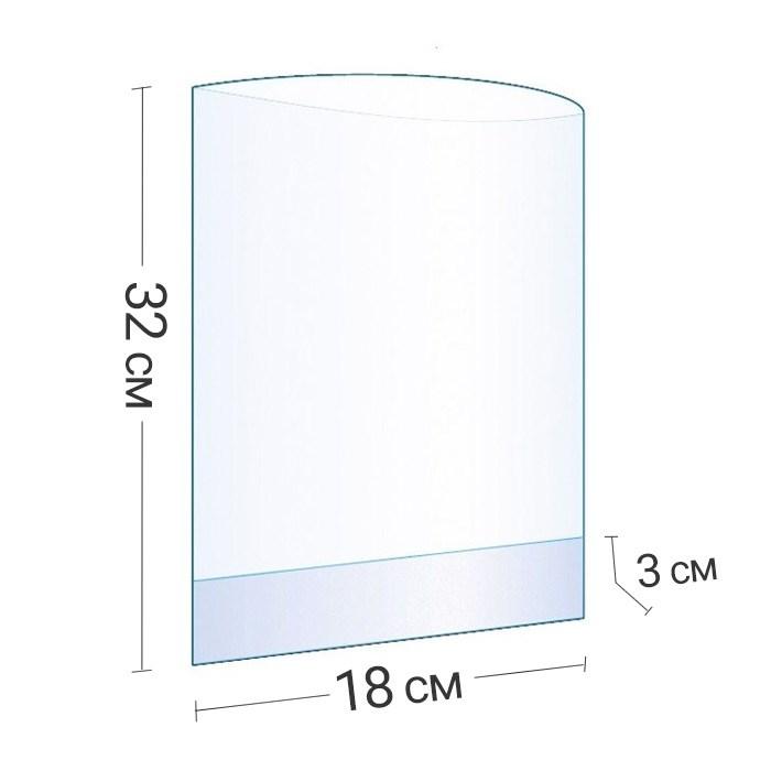 Бопп-пакет прозрачный с объемным дном 18x32x3 см - фото 6233