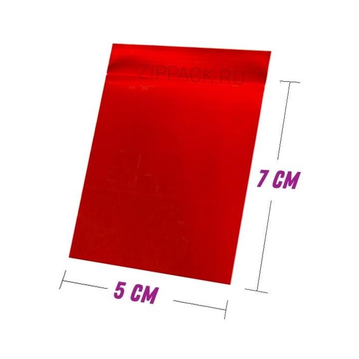 ZIP-LOCK ПАКЕТ НЕПРОЗРАЧНЫЙ 5х7 см - гриппер 60 мкм красный - фото 6250