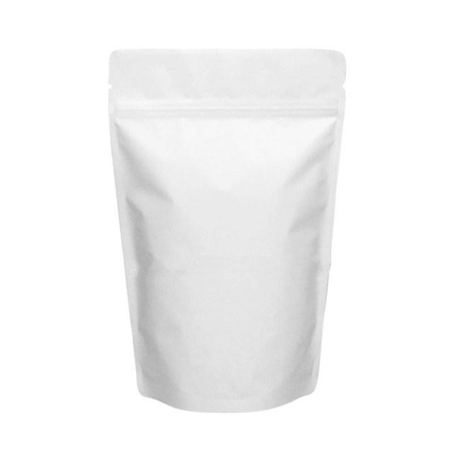 Белый матовый дой-пакет 240х330 мм с замком zip-lock металлизированный - фото 6359