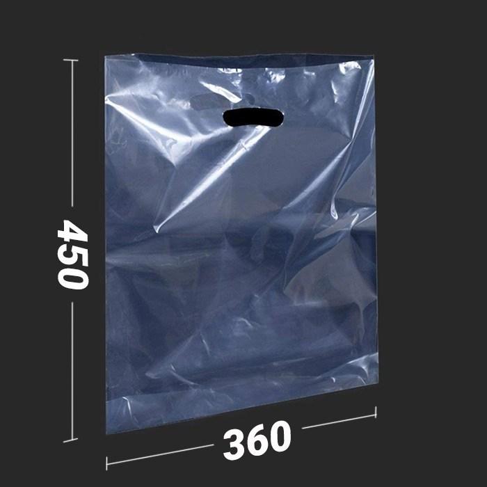 ПРОЗРАЧНЫЕ ПОЛИЭТИЛЕНОВЫЕ ПАКЕТЫ 360*450 мм / 70 мк  С РУЧКОЙ - фото 6564