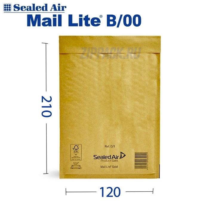 Почтовый крафт-пакет с воздушной подушкой MAIL LITE B/00, 120*210 мм - фото 6571