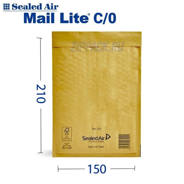 Почтовый крафт-пакет с воздушной подушкой MAIL LITE C/0, 150*210 мм - фото 6573