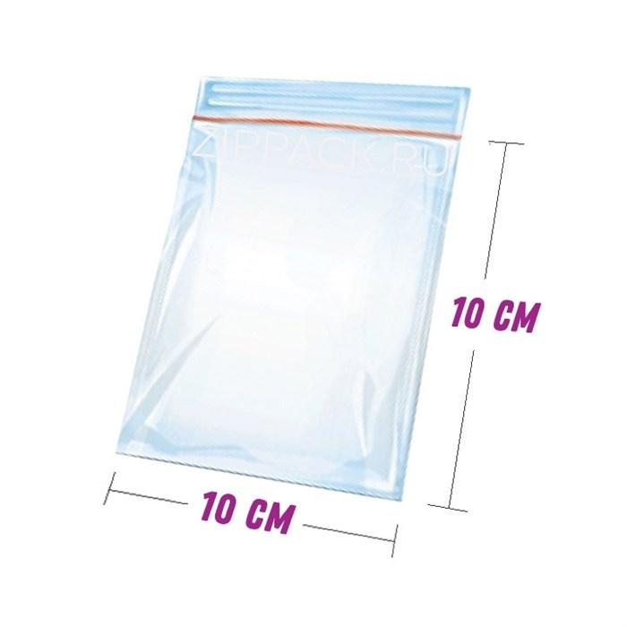 ZIP ПАКЕТ 10х10 см - гриппер 45 мкм с замком zip-lock - фото 6604