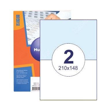 Этикетки самоклеящиеся 2 шт на листе А4 | 210х148 мм | 100 листов в упаковке - фото 6637