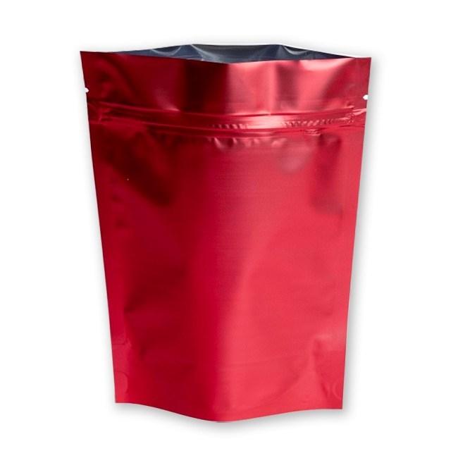 Дой-пакет красный 105х215 мм металлизированный с замком zip-lock - фото 6855