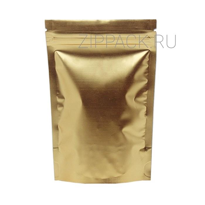Дой-пакет 135х200 мм матовый золотой металлизированный с zip-lock - фото 6929