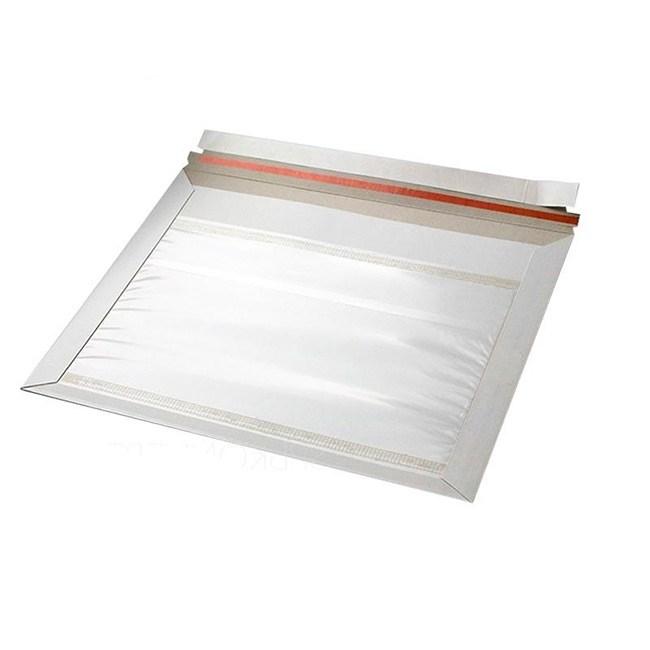 Картонный пакет 265х340 мм   Белый картон 390г., с карманом для документов - фото 7506