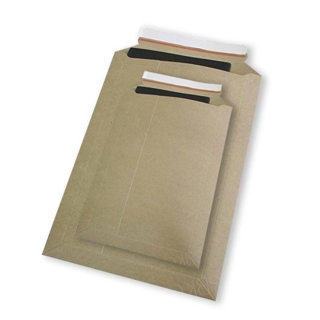 Картонный пакет 215x270 мм   Картон крафт 400г., отрывная лента - фото 7512
