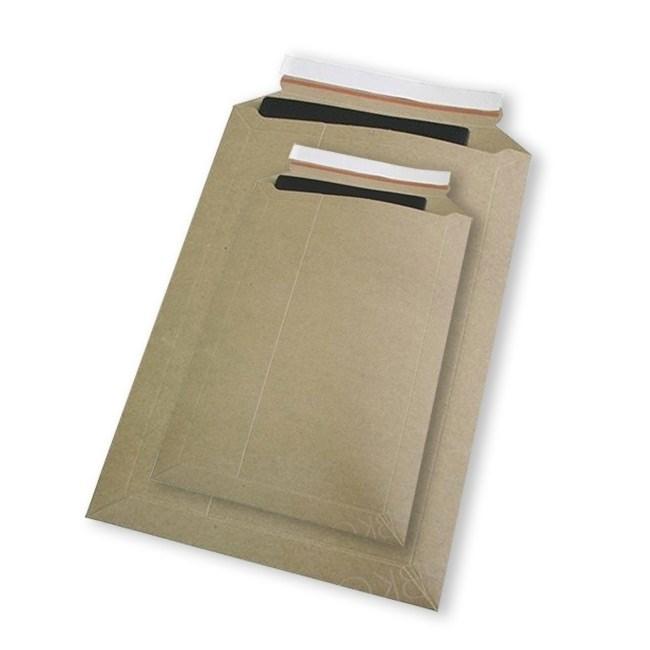 Картонный пакет 295x375 мм   Картон крафт 400г., отрывная лента - фото 7516