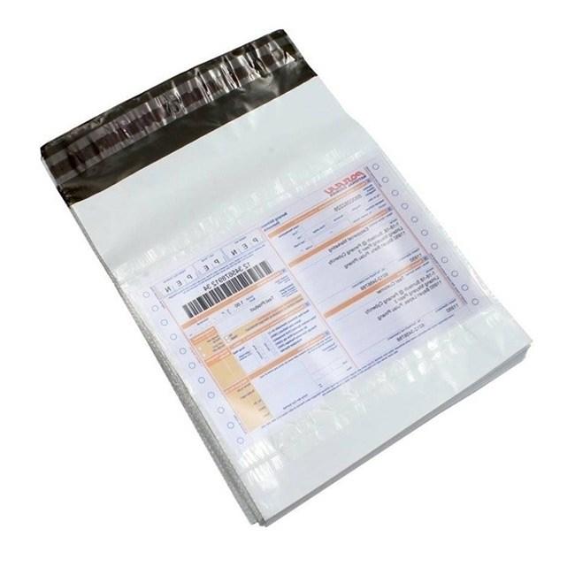 Курьер-пакет белый 430х500 мм без логотипа / с карманом - фото 7556