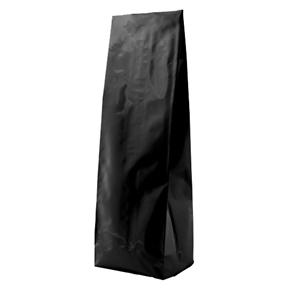 Пакет черный глянцевый  85*60*250 мм с центральным швом и боковыми фальцами