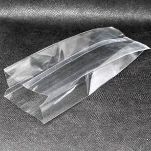 Прозрачный пакет 100*80*250 мм с центральным швом и боковыми фальцами