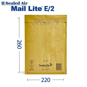Почтовый крафт-пакет с воздушной подушкой MAIL LITE E/2, 220*260 мм