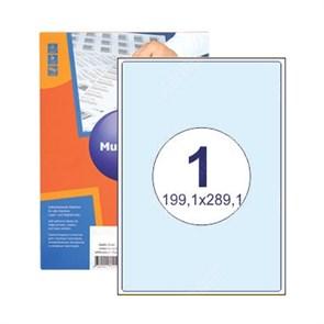 Этикетка самоклеящаяся 1 шт на листе А4 | 199,6х289,1 мм | 100 листов в упаковке