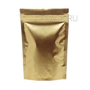 Дой-пакет 135х200 мм матовый золотой металлизированный с zip-lock